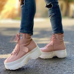 CHUNKY BOOTS  PINK
